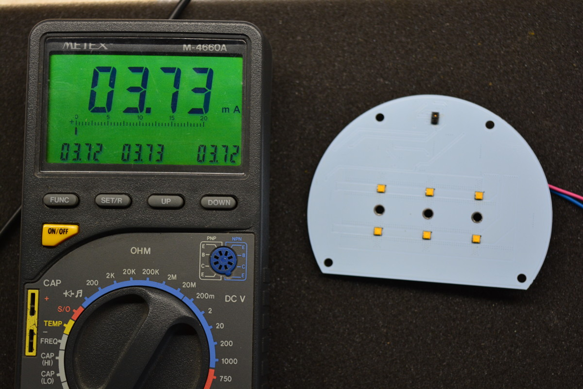 LED modul fogyasztása